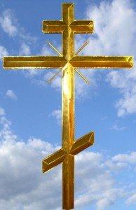 Кресты на храме при ФСБ в Москве