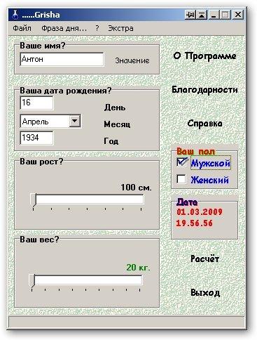 Программа «Гриша»
