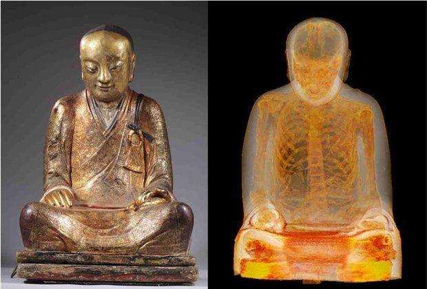 Тысячелетняя статуя оказалась мумией монаха