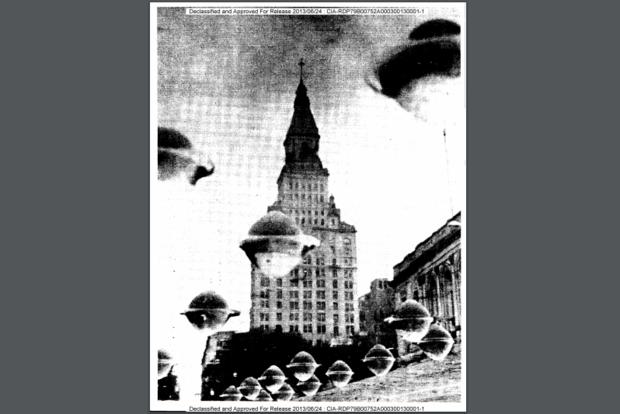 ЦРУ рассекретило фото и чертежи НЛО