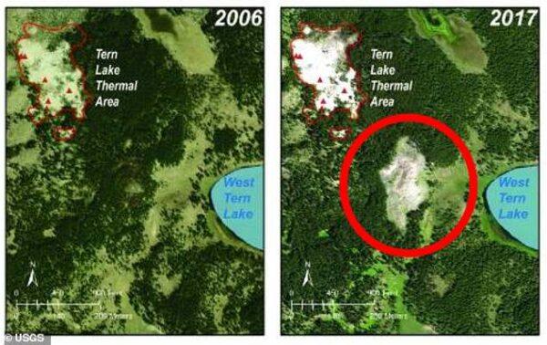 Йеллоустонский вулкан расширяется