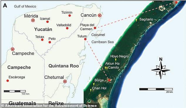 Майя добывали красную охру в шахтах 13000 лет назад